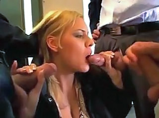 Hot Euro blonde Scarlette pumped in...