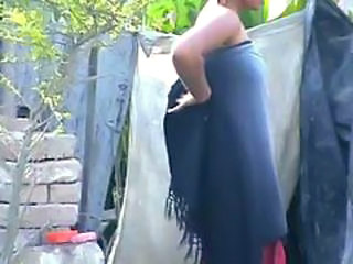 "wow... awesome desi village beauty bathing outside"" target=""_blank"