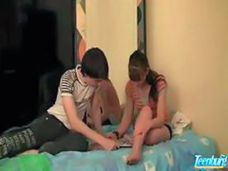 creampie taboo sex of step Brother and young Amateur Teen couple