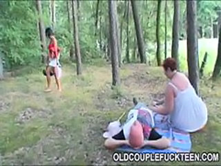 Fucking picnic for old lovers