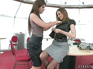 Office babe Eufrat and friend...
