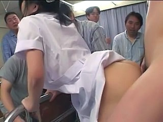 Japanese Nurse gets banged and creampied several times