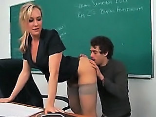 Super hot blond MILF teacher ...