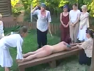 Punished girl - birching
