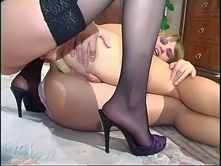 Famous Backdoor Lesbians shows nice collection of Strapon...