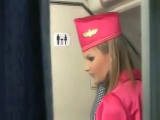 Blonde stewardess