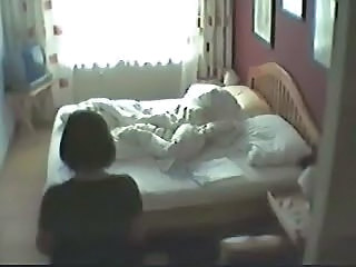 My mom dont suspect i placed hidden cam in her bed room