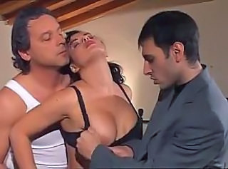 Exclusive Italian Gangbang With Busty Lush Dame Going Crazy Over Th...