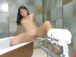 Asian kinky slut using have a bowel movement and a fucking machine round occupy herself away distance from the curious communiqu' masturbating in sweetmeat pussy penetration video luggage