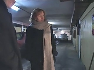 Mature mother fucked by son and his friend in the garage