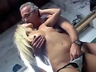 Amateur Blonde Daddy Kissing Old and Young Russian Small Tits