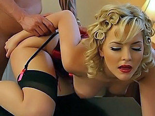 Stylish blondie gets her her...