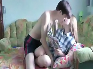 College couple do some copulation starting with cunnilingus and fellatio