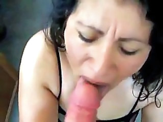 Exotic MILF loves to suck and lick her husband's penis and balls