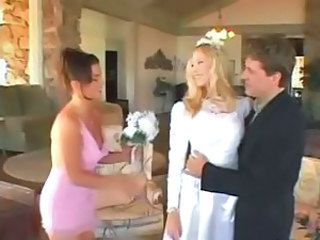 New bride has a threesome and gets banged with her best friend