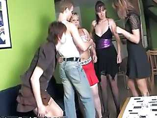 Four mature housewifes love sharing