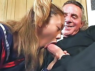 Hot schoolgirls engulfing jock compilation