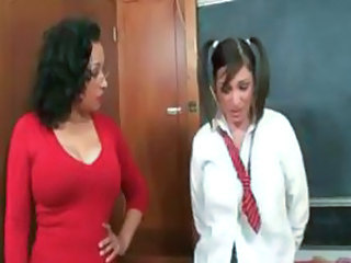 Danica is a dirty teacher who teaches Michelle a few lesbian moves