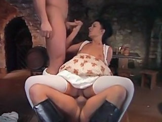 BarMaid fucked by 2 Musketeers
