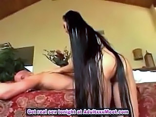 Asian Long hair Massage MILF Pornstar