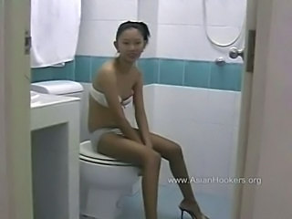 Thai Hooker Sucks Cock in the Toilet free