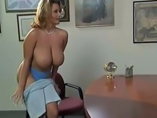 Amazing Big Tits  Natural Office Pornstar Stripper Vintage