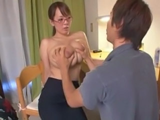 Amazing Asian Big Tits Glasses Japanese  Teacher