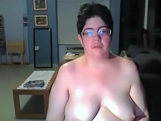 Chubby Glasses Mature  Webcam Wife