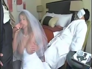 Big Tits Blowjob Bride Cuckold  Natural