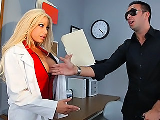Big Tits Blonde  Nurse Pornstar Uniform
