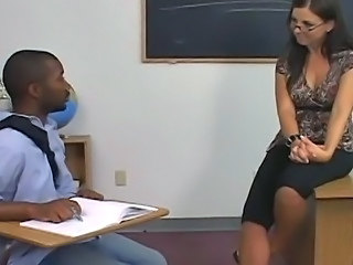 Big Tits Glasses Interracial  Old and Young School Teacher