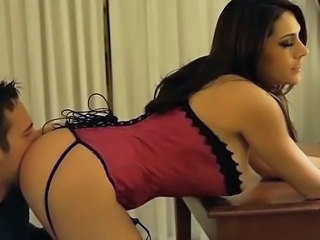 Amazing Ass Corset Cute Licking  Pornstar