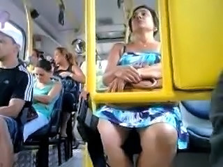 Bus Mature Public Upskirt