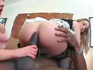 Anal  Hardcore Interracial  Riding Stockings Threesome