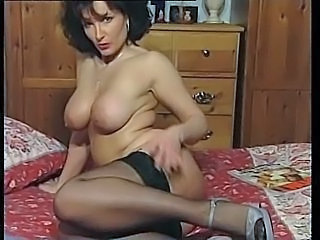 Big Tits Brunette  Stockings