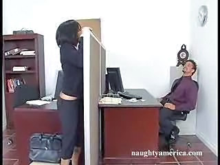 Brunette  Office Pornstar