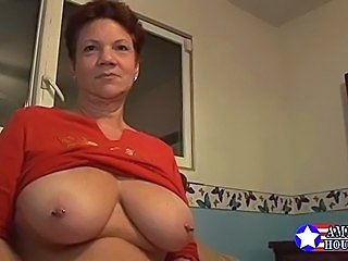 chubby natural tits peirced - Amateur Big Tits Chubby Mature Natural Nipples Piercing Redhead