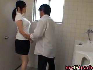 Asian Big Tits Japanese  Teacher Toilet