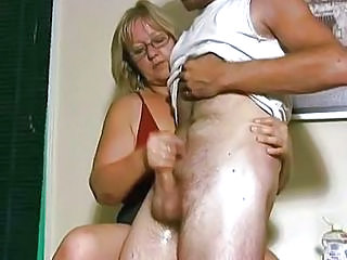 Amateur Glasses Handjob Mature