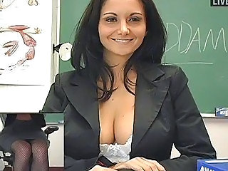 Amazing Big Tits Brunette Cute  Natural School Teacher