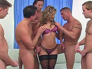 Amazing Cute Gangbang Handjob Lingerie  Pornstar Stockings