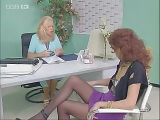 Lesbian  Office Stockings
