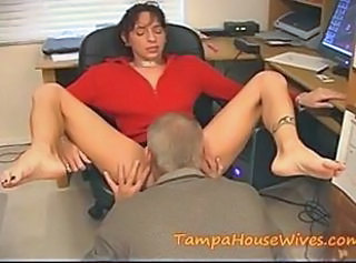 Clothed Licking  Office Old and Young Secretary Tattoo