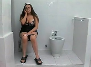 Big Tits European Italian  Toilet