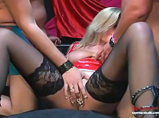 Blowjob Gangbang  Piercing  Stockings