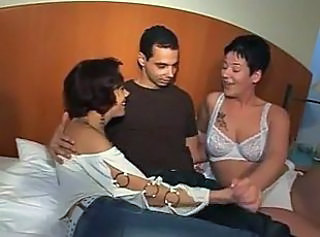 Amateur European German Lingerie  Threesome
