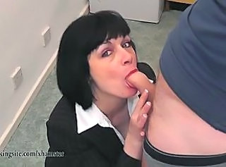 Blowjob British European  Office