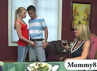 Daughter Family  Mom Teen Threesome