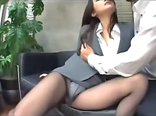 Asian Japanese  Office Panty Pantyhose Secretary