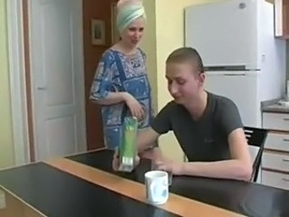 Amateur Kitchen Mature Mom